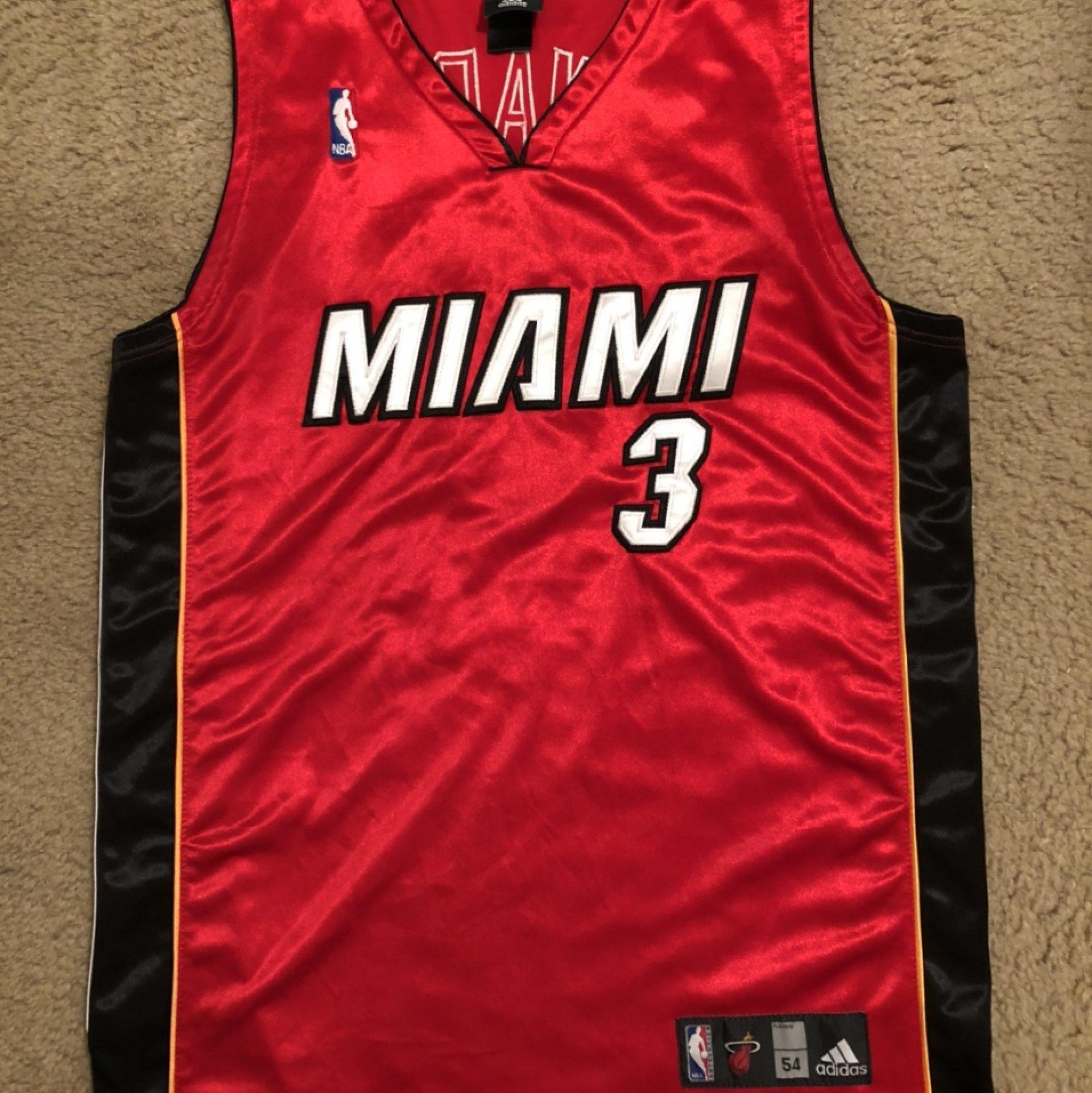 Dwyane Wade Miami Heat #3 alternate red NBA Adidas Jersey ...