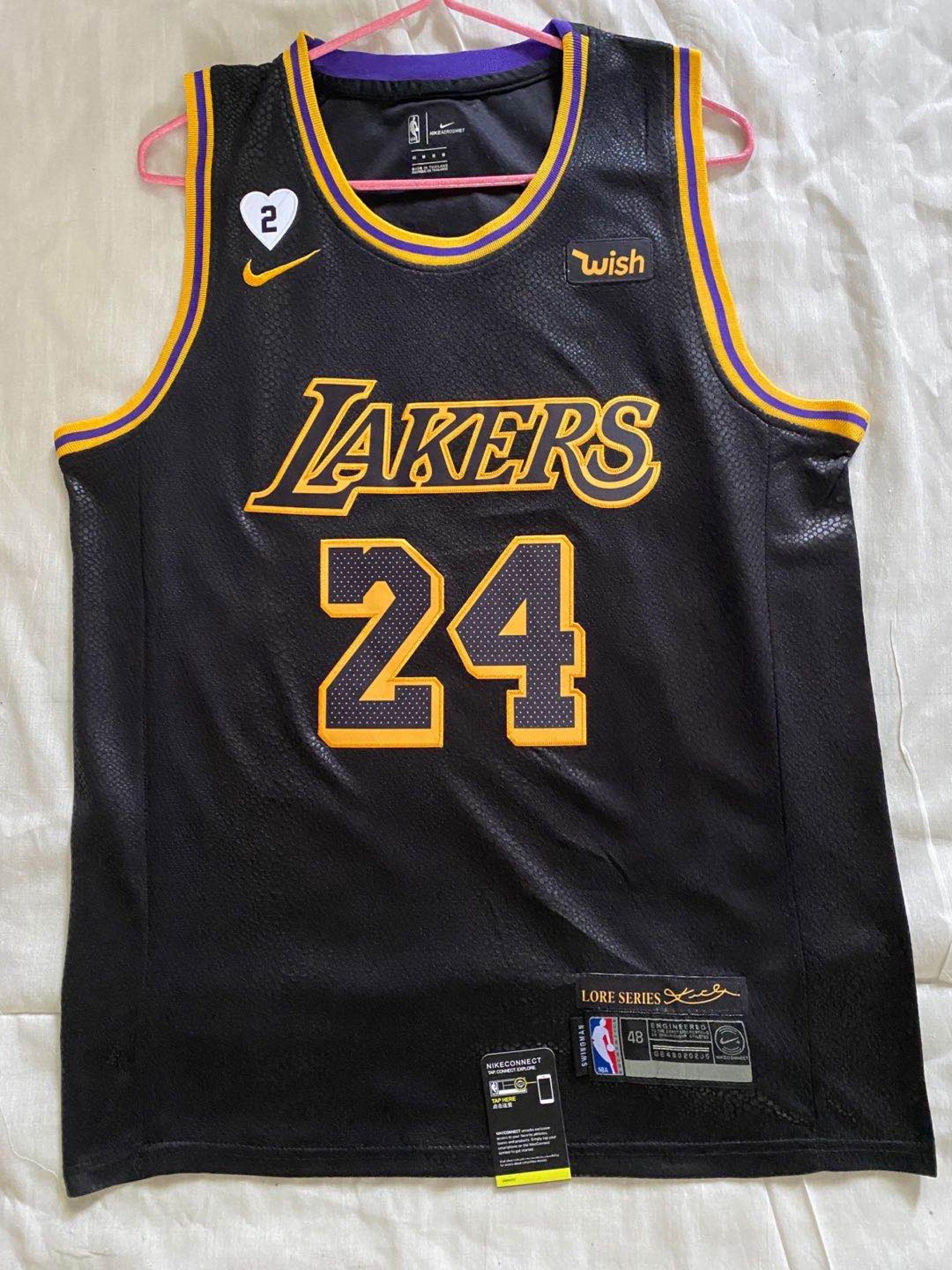 Kobe Bryant - Los Angeles Lakers #24 Black Mamba - JerseyAve ...