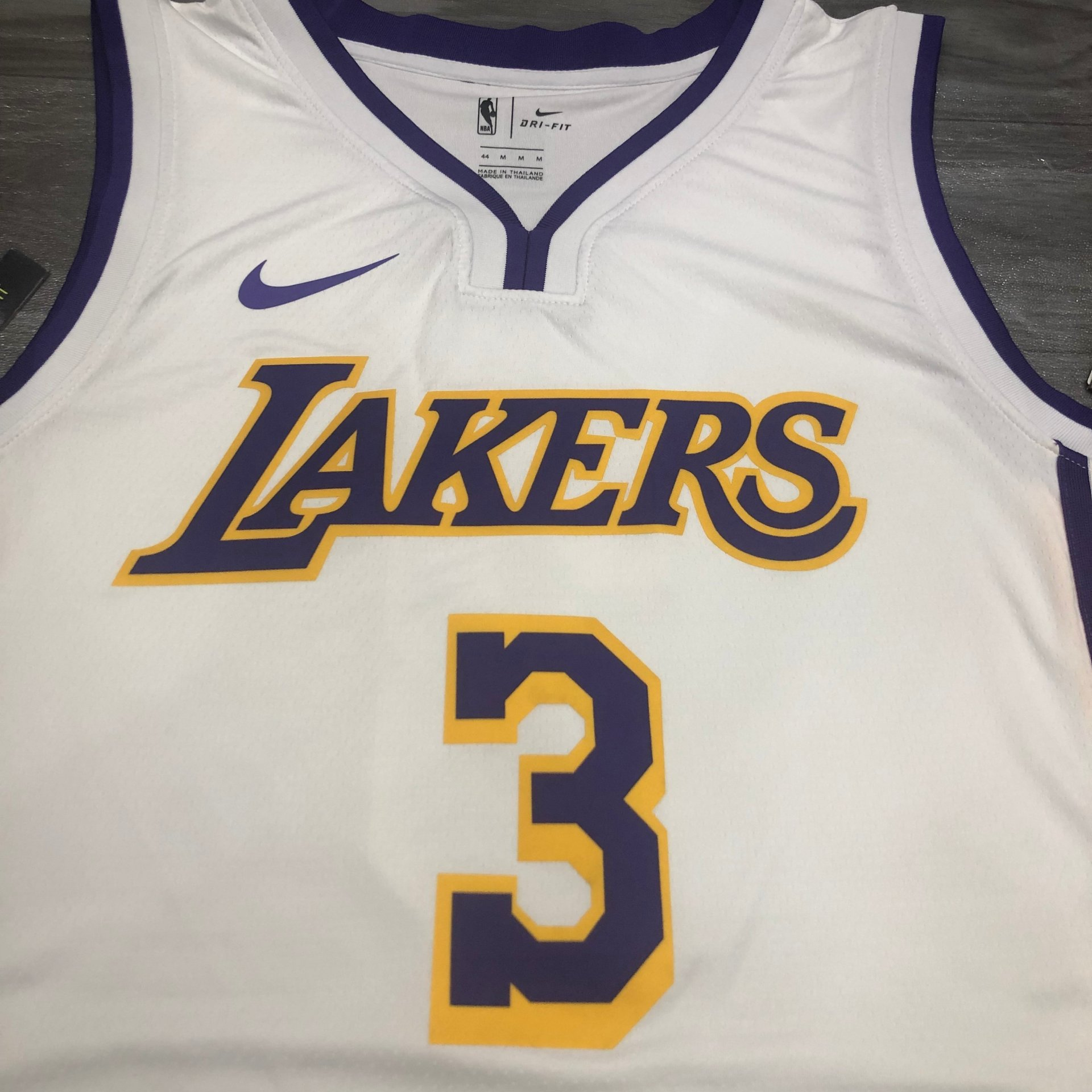 Anthony Davis - Los Angeles Lakers #3 white jersey - JerseyAve ...