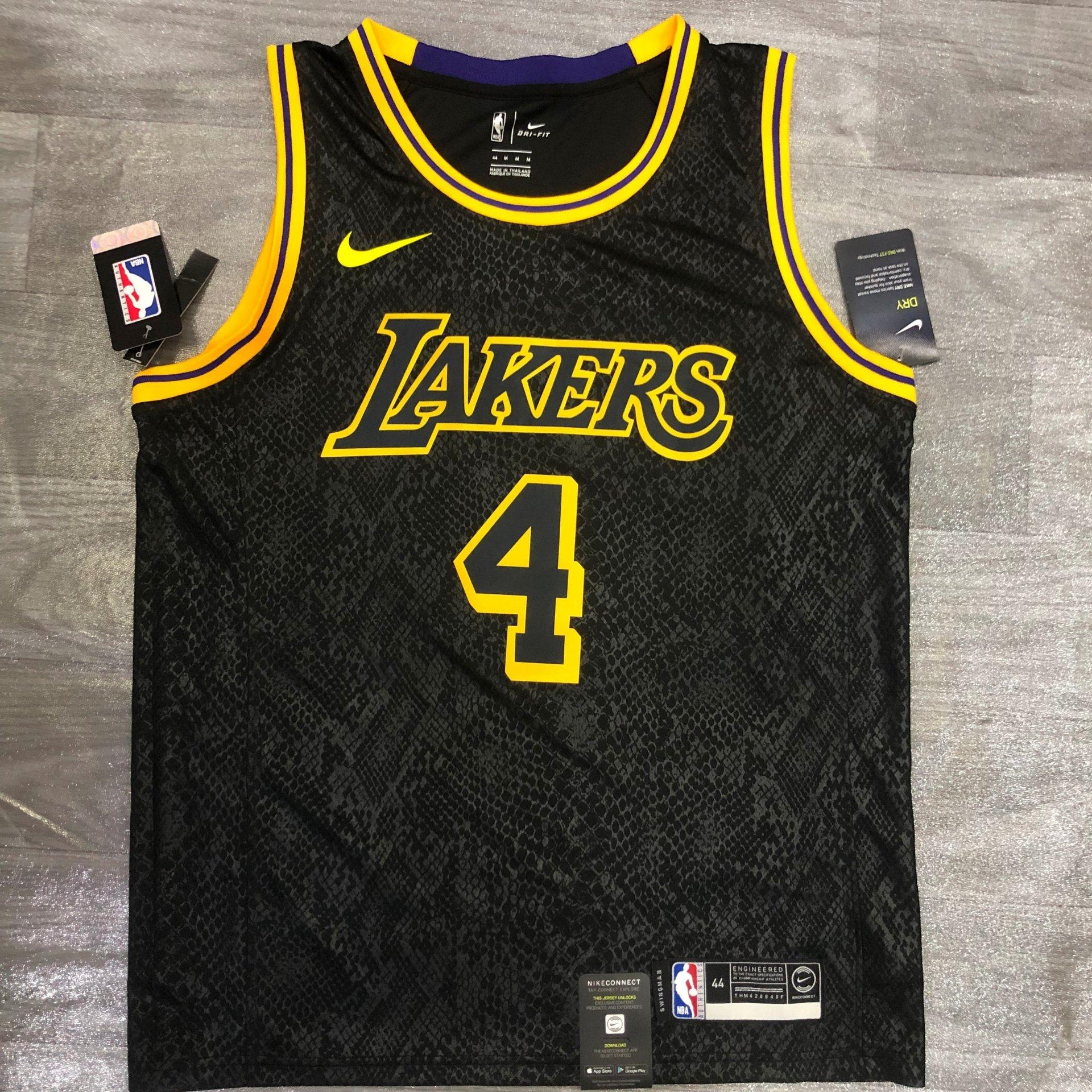Alex Caruso - Los Angeles Lakers #4 *Black Mamba* - JerseyAve ...
