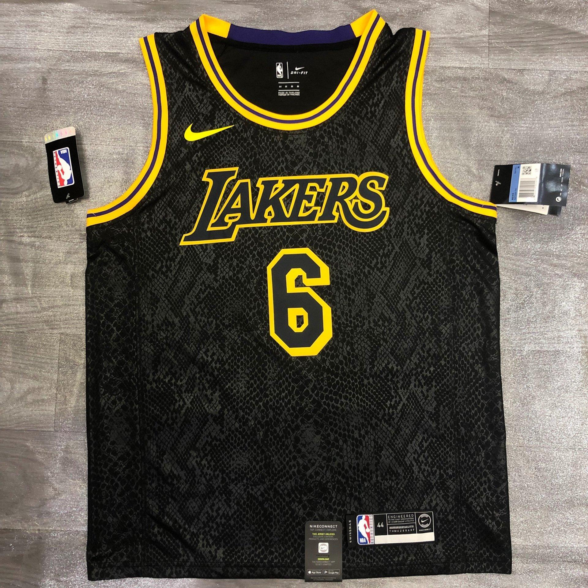 Lebron James - Los Angeles Lakers #6 *Black Mamba* - JerseyAve ...