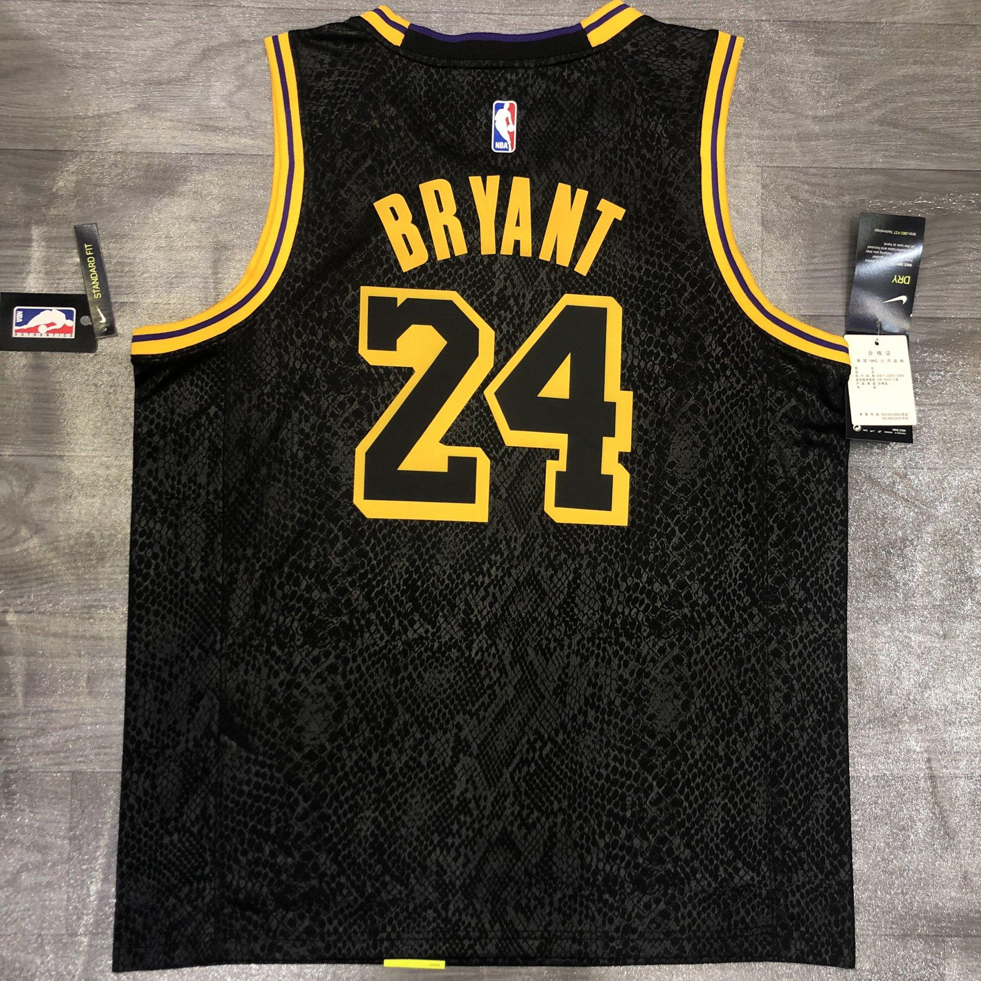 Kobe Bryant #8-24 - Los Angeles Lakers *RARE* Black Mamba ...