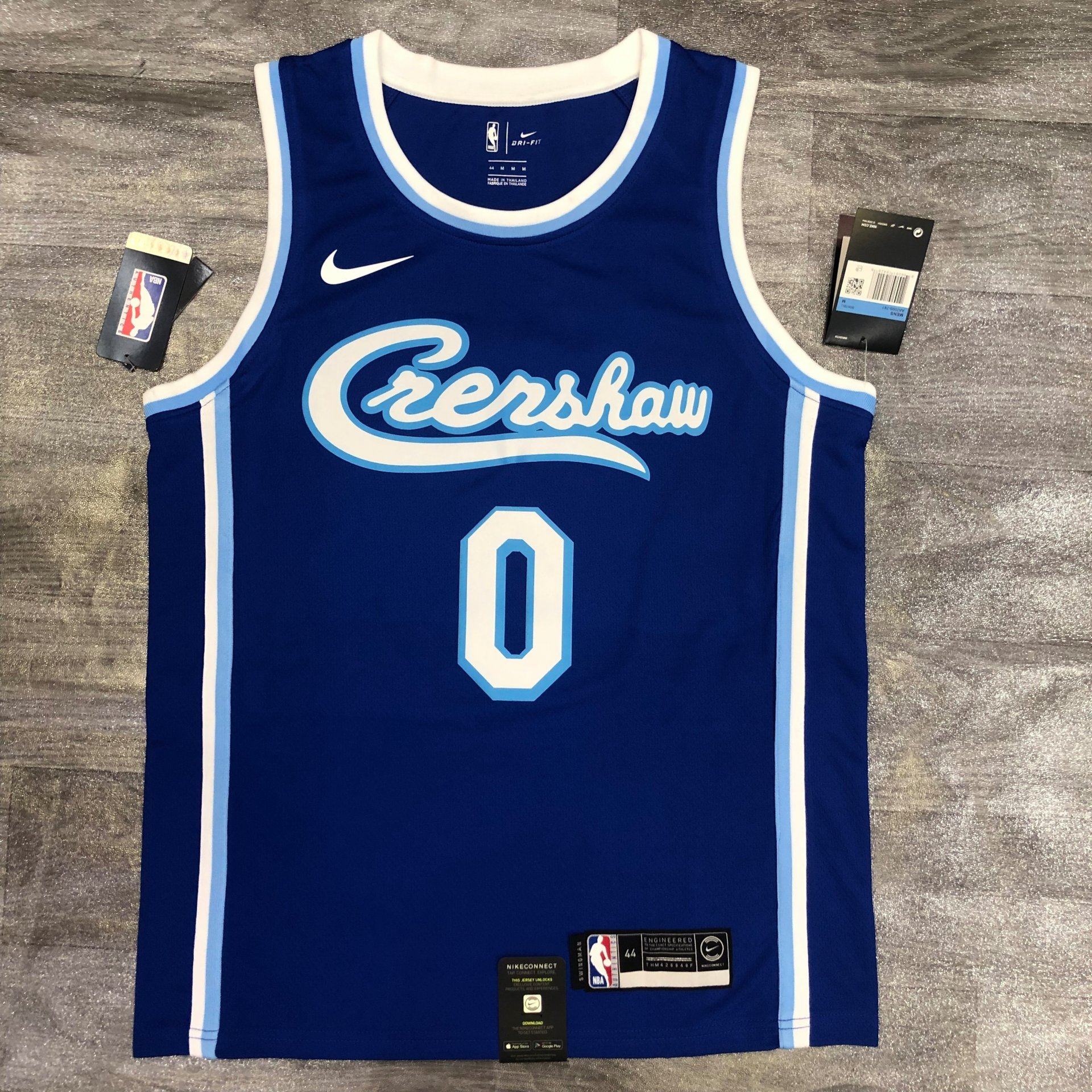 Nick young Los Angeles Lakers - Crenshaw blue #0 - JerseyAve ...
