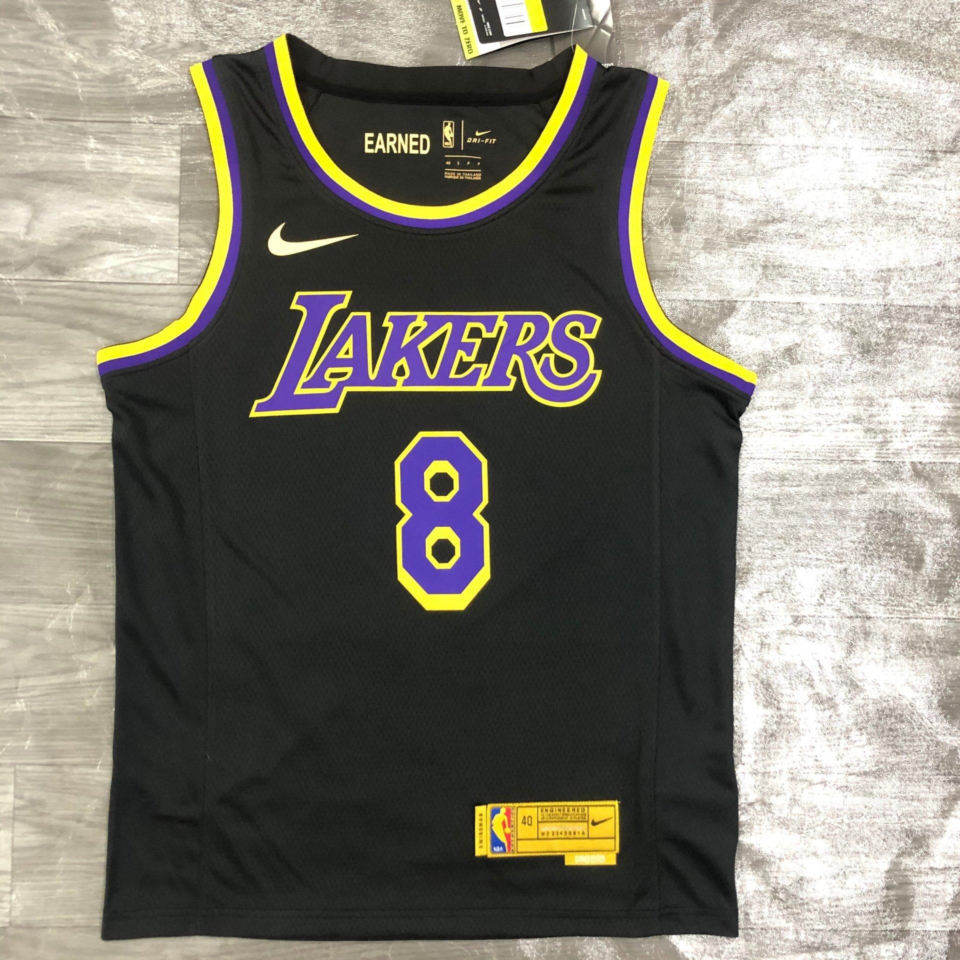 Kobe Bryant Los Angeles Lakers - Black/Yellow #8 *EARNED EDITION ...