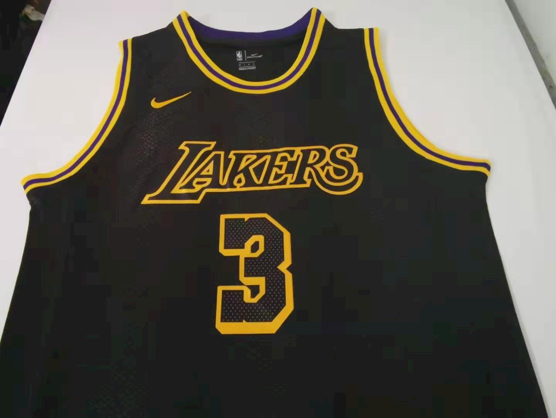 Anthony Davis - Los Angeles Lakers Black *Mamba* - JerseyAve ...